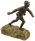 "Military & Patriotic:WWI, World War I: Sculpture, ""Bomb Thrower"" by P. Botto, Florence,Italy...."