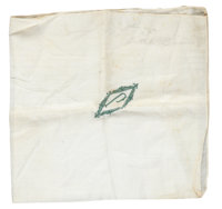 John Dillinger's Monogrammed Handkerchief, Returned to the Family by the FBI with His Personal Effects from the Little B...