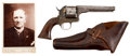 Military & Patriotic:Civil War, Nicely ID'd Moore's Patent, Seven Shot .32 Caliber Rimfire Revolver, #2697, with the Original Holster.... (Total: 2 Items)