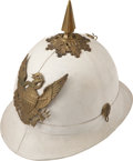 Military & Patriotic:Indian Wars, Indian Wars: United States Model 1887 Officer's Infantry White Summer Dress Pith Helmet....