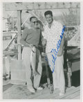 Autographs:Photos, 1955 Ted Williams Signed Wire Photograph....