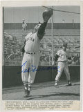 Autographs:Photos, 1959 Ted Williams Signed Wire Photograph....