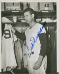 Autographs:Photos, 1954 Ted Williams Signed Wire Photograph....