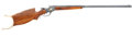 Military & Patriotic:WWI, Winchester M1885 High Wall Schuetzen Rifle Caliber .32-40 #166198,Manufactured after 1920, with Exquisite Contemporary Embell...