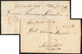 Stamps, 1809, New Bedford, Mass. to Taunton, Mass....