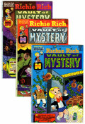 Bronze Age (1970-1979):Cartoon Character, Richie Rich Vault of Mystery File Copy Group (Harvey, 1974-82)Condition: Average NM-.... (Total: 46 Comic Books)