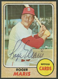 Autographs:Sports Cards, 1968 Roger Maris Signed Card....