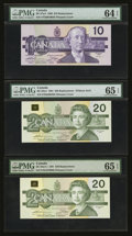 Canadian Currency: , BC-57aA $10 1989 Replacement.. BC-58aA $20 1991 Replacement - W/OSerif.. BC-58aA-i $20 1991 Replacement.. ... (Total: 3 notes)