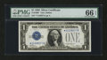 Small Size:Silver Certificates, Fr. 1600* $1 1928 Silver Certificate. PMG Gem Uncirculated 66 EPQ.. ...