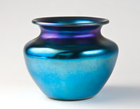 A Tiffany Studios-Style Favrile Glass Vase Marks: (spurious Tiffany Studios marks) 7-1/2 inches (19.1 cm)