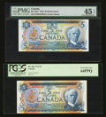Canadian Currency: , BC-48a $5 1972.. BC-53aA $5 1979 Replacement.. ... (Total: 2 notes)