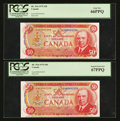 Canadian Currency: , BC-51b $50 1975 Two Consecutive Examples. ... (Total: 2 notes)