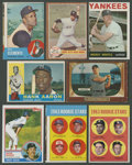 Baseball Cards:Lots, 1950's-1960's Topps & Bowman Baseball Hall of Famers Collection(8). ...