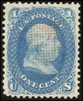 Stamps, 1c Blue, F. Grill (92),...