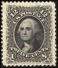 Stamps, 12c Black, Re-Issue (107),...