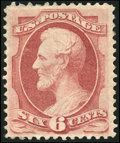 Stamps, 6c Carmine, Grilled (137),...