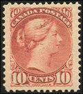 Stamps, 10c Brown Red (45),...