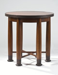 Furniture : Continental, PROPERTY FROM A MANHATTAN COLLECTION. ADOLF LOOS FOR FRIEDRICH OTTOSCHMIDT, VIENNA. An Oak and Brass Side Table, circa 19...