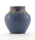 Ceramics & Porcelain, American:Modern  (1900 1949)  , NEWCOMB COLLEGE. A Matte-Glazed Pottery Vase, decorated by AnnaFrances Simpson, 1918. Marks: impressed NC, RY19, 72, ar...