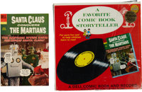 Movie Classics Santa Claus Conquers the Martians with Record #SLP-70 (Dell, 1966).... (Total: 2 Items)