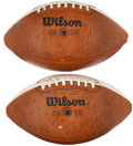 Football Collectibles:Balls, 1982 and 1985 University of Texas Team Signed Footballs Lot of 2.... (Total: 2 items)