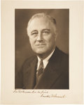 Autographs:U.S. Presidents, Franklin D. Roosevelt Photo Signed, together with photos signed ofhis vice president, the Speaker of the House, and many ea...(Total: 9 Items)