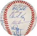 Autographs:Baseballs, 1991 Oakland A's Team Signed Baseball....
