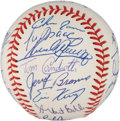 Autographs:Baseballs, 1991 Cleveland Indians Team Signed Baseball. ...