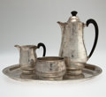 Silver Holloware, Continental:Holloware, EMMY ROTH. A Four-Piece Silver Coffee Service, circa 1930. Marks:each stamped Emmy Roth in script and 800. 10 inche...(Total: 4 Items)