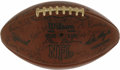 Football Collectibles:Balls, 1970s Green Bay Packers Multi-Signed Football. Exceptional collector's piece here has amassed several signatures from Green...
