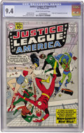 Silver Age (1956-1969):Superhero, Justice League of America #5 (DC, 1961) CGC NM 9.4 Cream tooff-white pages....