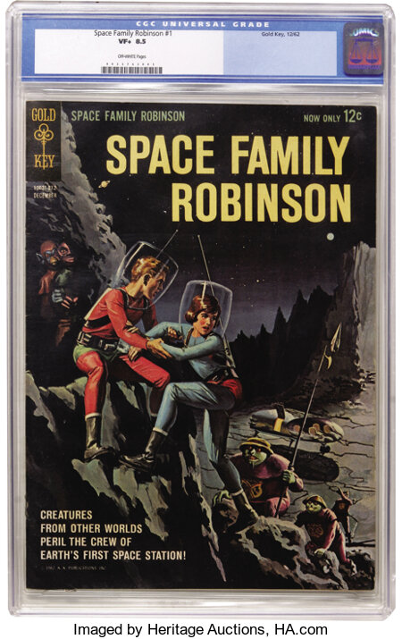 Space Family Robinson #1 (Gold Key, 1962) CGC VF+ 8.5 Off-white pages....