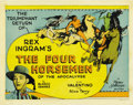 "Movie Posters:Drama, The Four Horsemen of the Apocalypse (MGM, R-1925). Title Lobby Cardand Lobby Card (11"" X 14"").... (Total: 2 Items)"