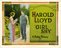 "Movie Posters:Comedy, Girl Shy (Pathe Exchange Inc., 1924). Title Lobby Card (11"" X 14"")...."