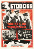 "Movie Posters:Comedy, Violent is the Word for Curly (Columbia, 1938). One Sheet (27"" X41""). ..."