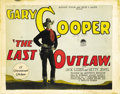 "Movie Posters:Western, The Last Outlaw (Paramount, 1927). Title Lobby Card (11"" X 14""). ..."