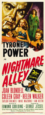 "Nightmare Alley (20th Century Fox, 1947). Insert (14"" X 36"")"