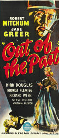 "Movie Posters:Film Noir, Out of the Past (RKO, 1947). Australian Daybill (13"" X 30""). ..."