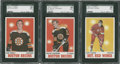 Hockey Cards:Lots, 1970 Topps Hockey SGC 96 Mint 9 Lot of 3.... (Total: 3 cards)
