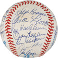 Autographs:Baseballs, 1990 Old Timers Game Multi Signed Baseball. ...