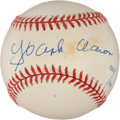 Autographs:Baseballs, Hank Aaron Signed And Numbered Jackie Robinson CommemorativeBaseball. ...