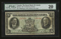 Canadian Currency: , Montreal, PQ- The Royal Bank of Canada $5 Jan. 3, 1927 Ch #630-14-04. ...