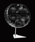 """Art Glass:Daum, DAUM AFRIC'ART COLLECTION. """"Petrol Head"""" A Black Crystal and SilverSculpture, no. 3776. The final remaining from an edition..."""