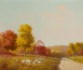 Paintings, PORFIRIO SALINAS (American, 1910-1973). Autumn. Oil on canvas laid on board. 25 x 30 inches (63.5 x 76.2 cm). Signed low...