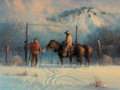 Texas:Early Texas Art - Regionalists, G. HARVEY (American, b. 1933). Closing the Winter Gap, 1977.Oil on canvas. 18 x 24 inches (45.7 x 61.0 cm). Signed and ...