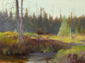 Western:20th Century, CARL CLEMENS MORITZ RUNGIUS (German/American, 1869-1959). Moose, Alberta. Oil on canvas. 18-1/4 x 24-1/4 inches (46.4 x ...