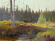 CARL RUNGIUS (American, 1869-1959) Moose, Alberta Oil on canvas 18-1/4 x 24-1/4 inches (46.4 x 61.6 cm) Signed lower