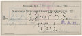 Autographs:Checks, 1953 Moe Berg Signed Check....