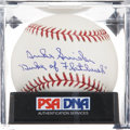 Autographs:Baseballs, Duke Snider Signed Baseball PSA Gem Mint 10....