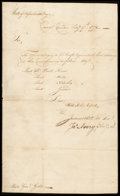 Stamps, [Paul Revere] War dated folded letter...